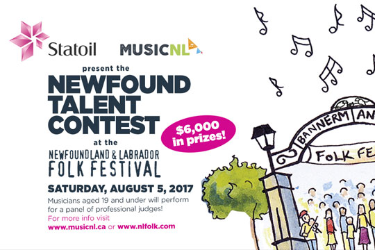 Statoil MusicNL Newfound Talent Contest 2017