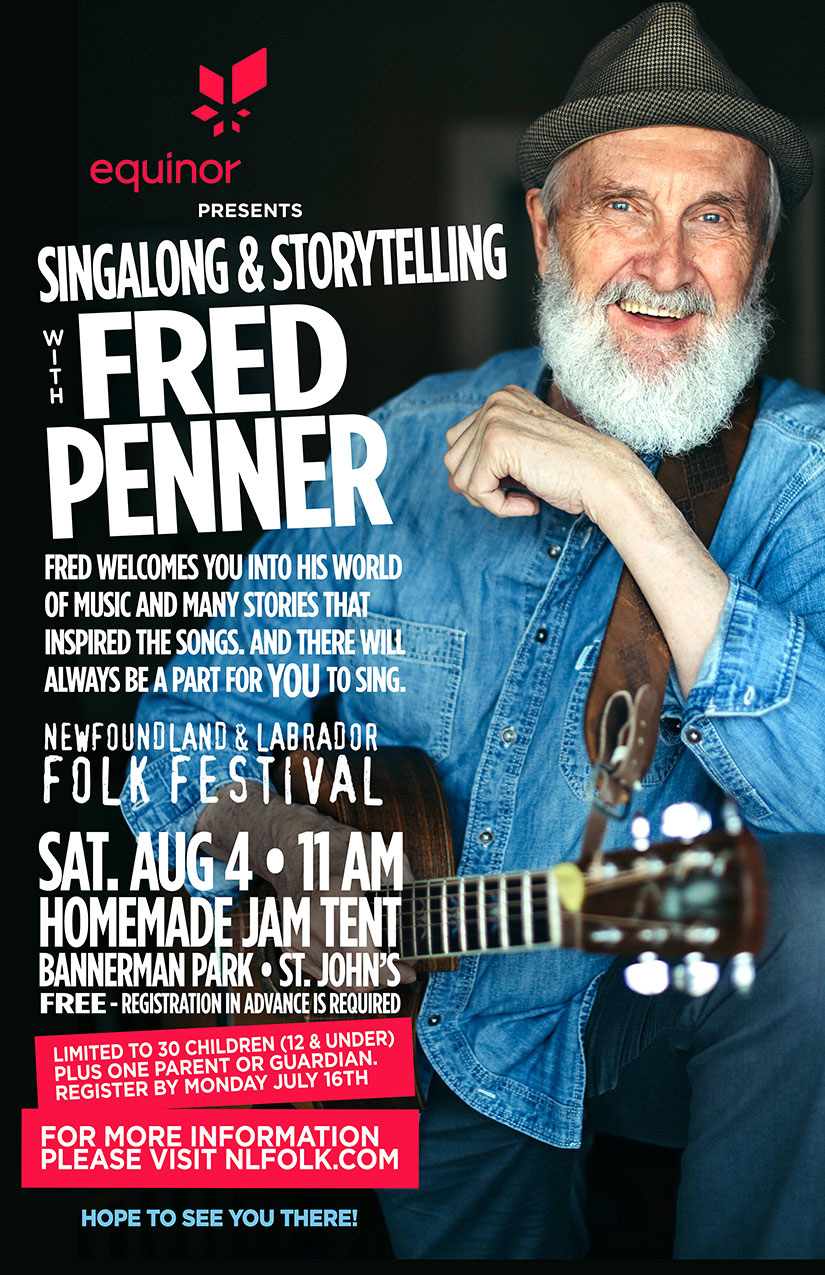 Equinor Presents Singalong & Storytelling with Fred Penner @ Newfoundland & Labrador Folk Festival