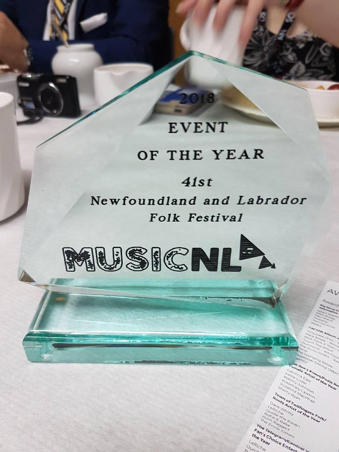 Newfoundland and Labrador Folk Festival Achieves Music NL's Event of the Year Award